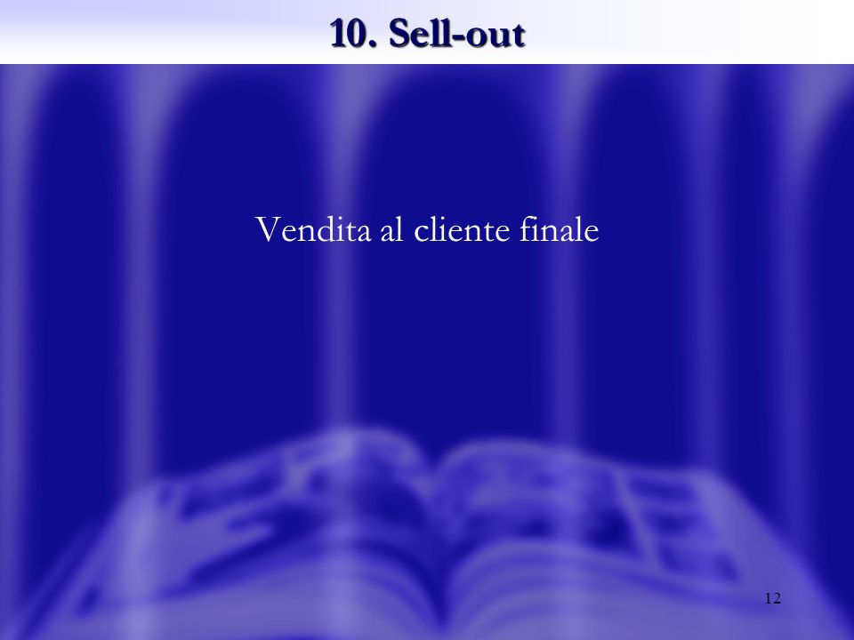 12 Vendita al cliente finale 10. Sell-out