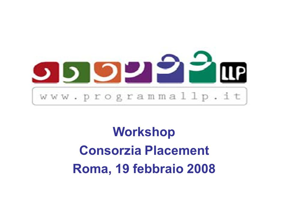 Workshop Consorzia Placement Roma, 19 febbraio 2008