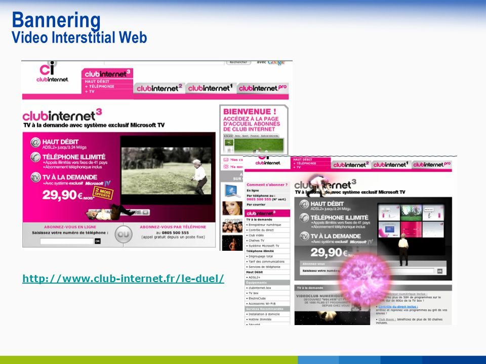 Bannering Video Interstitial Web