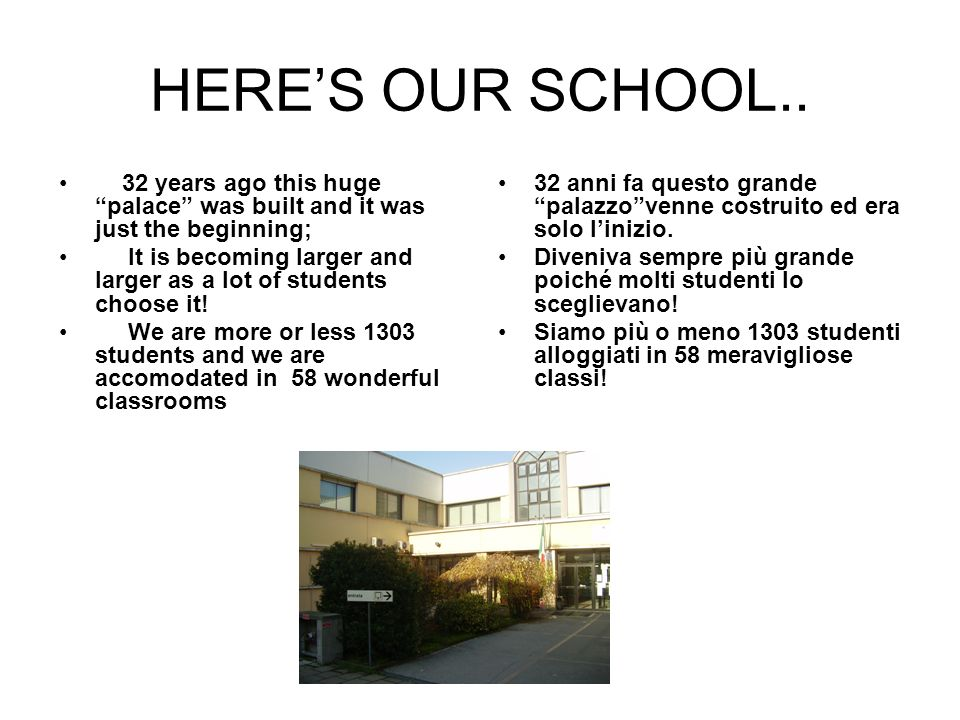 HERES OUR SCHOOL..
