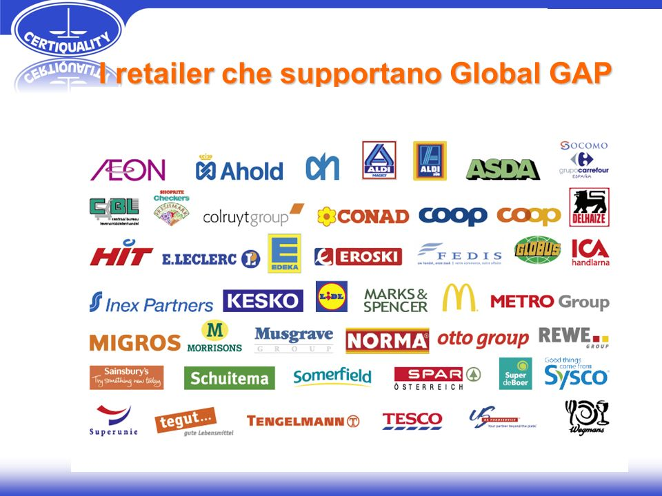 I retailer che supportano Global GAP