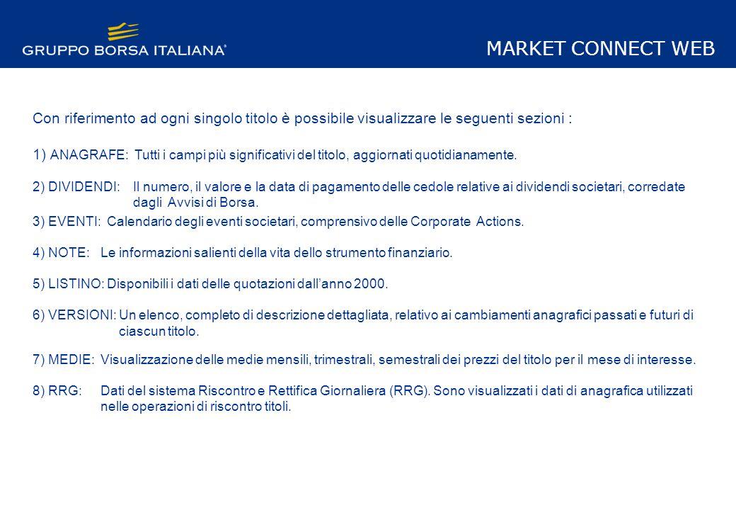 Calendario Dividendi 2020 Borsa Italiana.Market Connect Web Modulo Anagrafe New Business Info