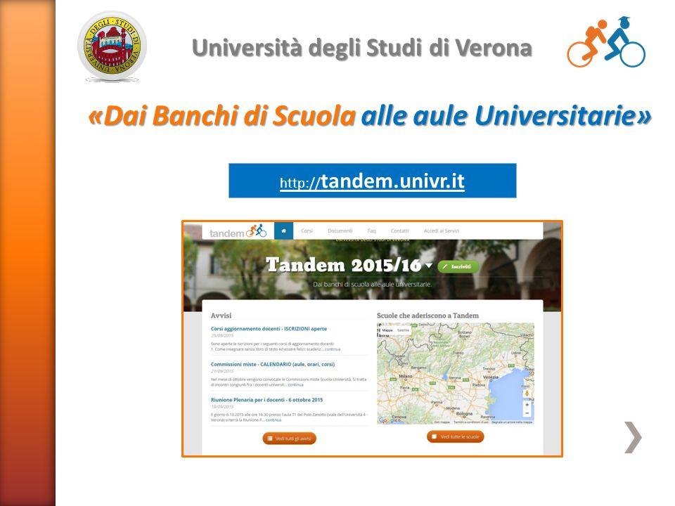 Univr Calendario.Tandem Univr It Universita Degli Studi Di Verona Dai Banchi