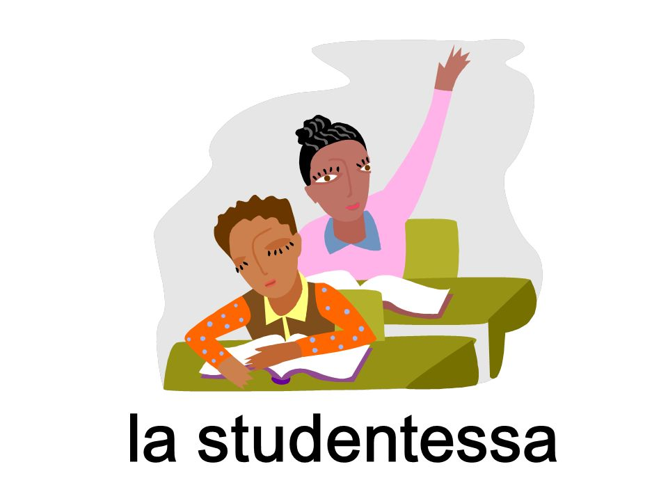 la studentessa