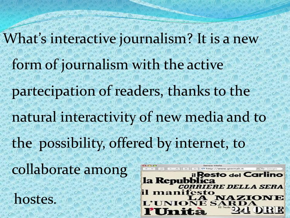 Whats interactive journalism.
