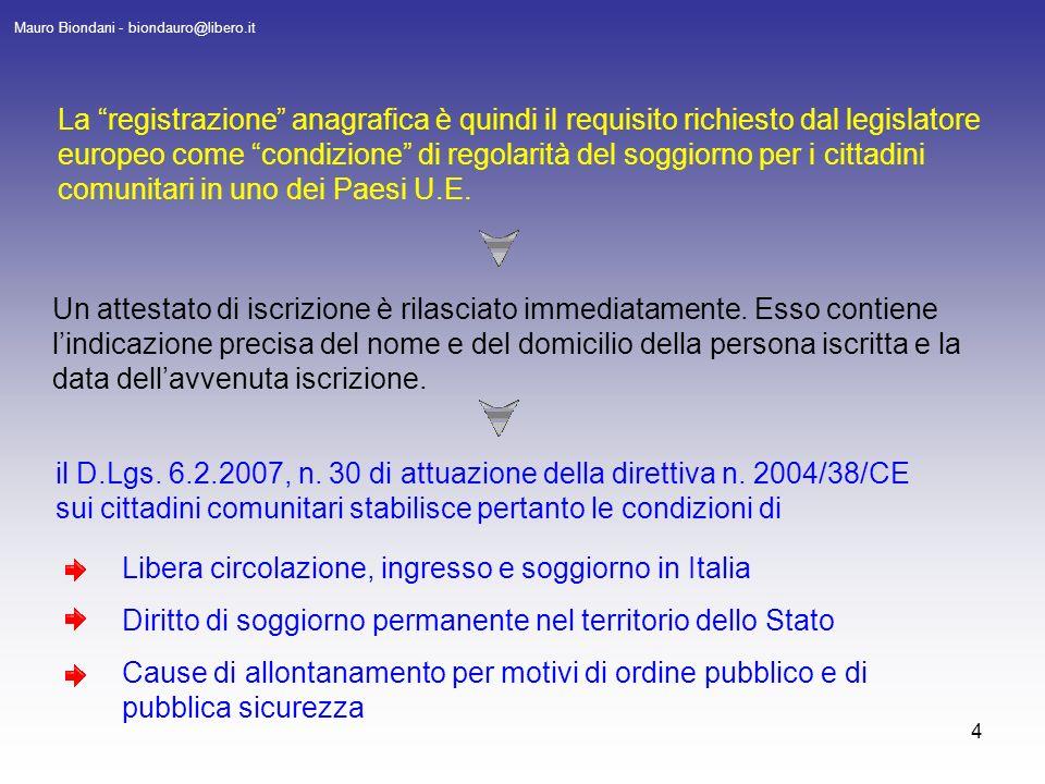 1 Cittadini Comunitari Iscrizione Anagrafica E Attestati Mauro Biondani Ppt Scaricare