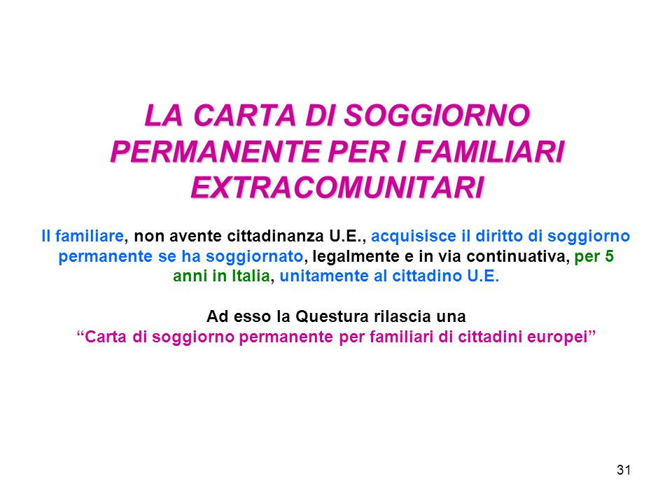 1 Fonti normative e regolamenti per i cittadini comunitari Direttiva ...