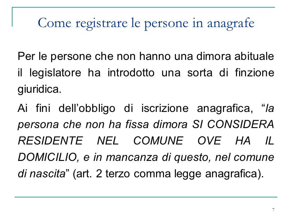 1 L Iscrizione Anagrafica Delle Persone Senza Fissa Dimora Riccione