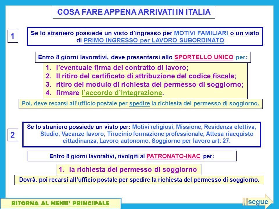 Modulo Richiesta Permesso Di Soggiorno Per Motivi Familiari – Solo ...