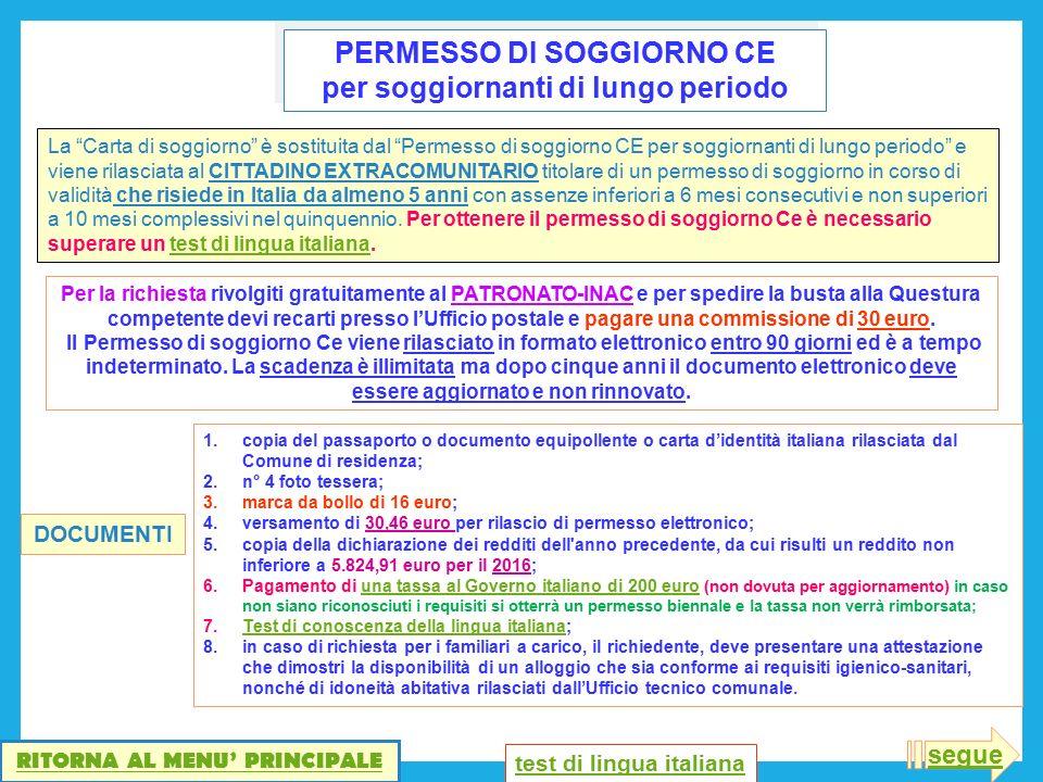 Awesome Carta Di Soggiorno Lungo Periodo Photos - Casa & Design 2018 ...