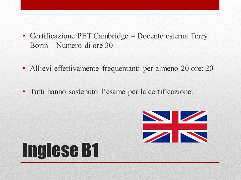 Progetti Pof A S 2013 2014 Certificazioni Linguistiche Inglese