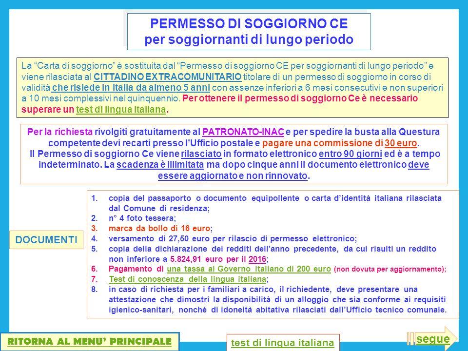 Emejing Test Per Carta Di Soggiorno Ideas - Casa & Design 2018 ...
