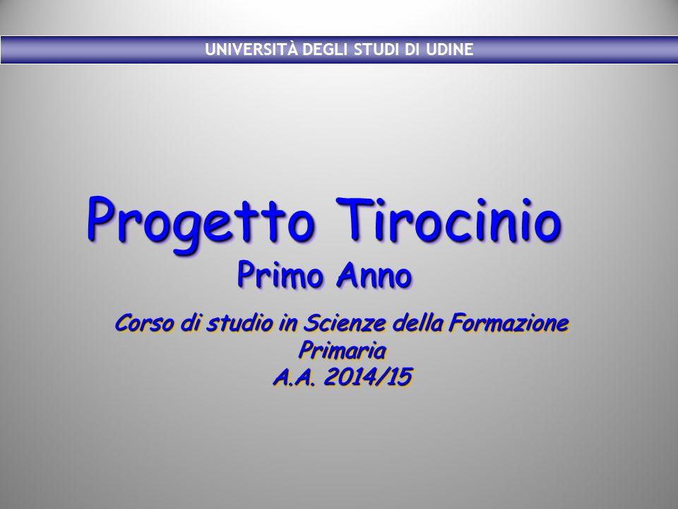 Ufficio Formazione Per La Ricerca Uniud : Progetto tirocinio primo anno corso di studio in scienze della