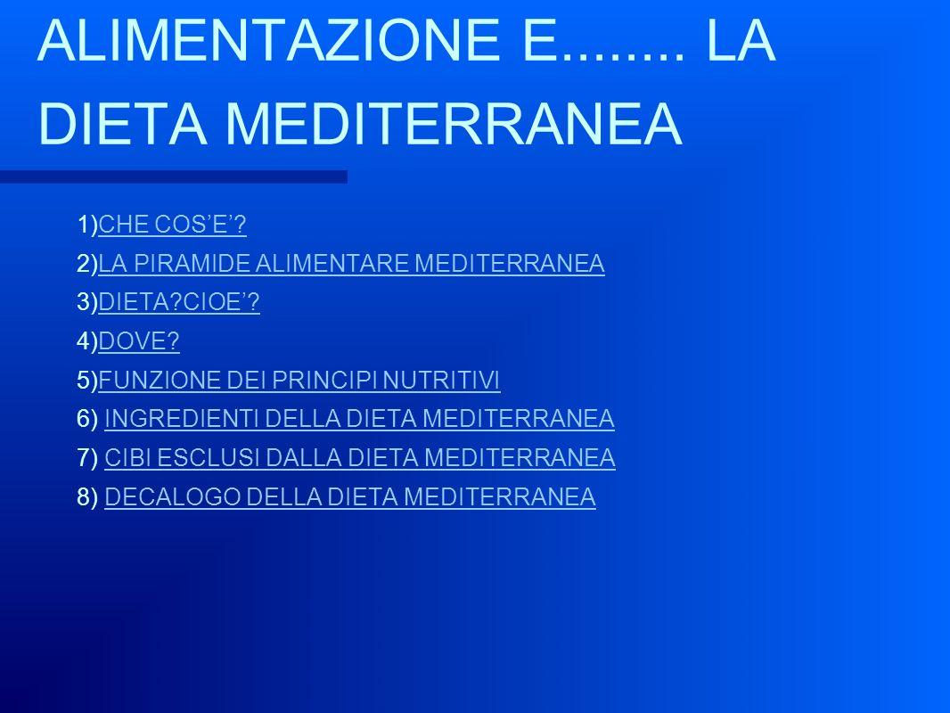 alimentazione e dieta mediterranea