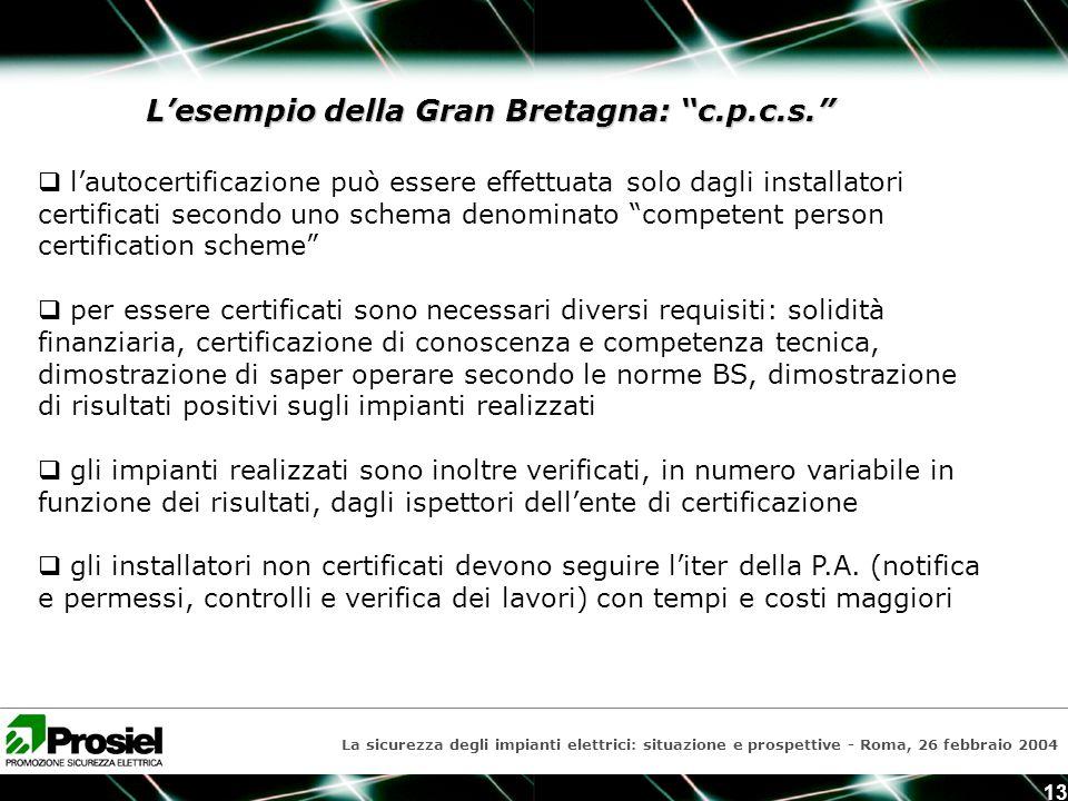 La sicurezza degli impianti elettrici: situazione e prospettive La ...