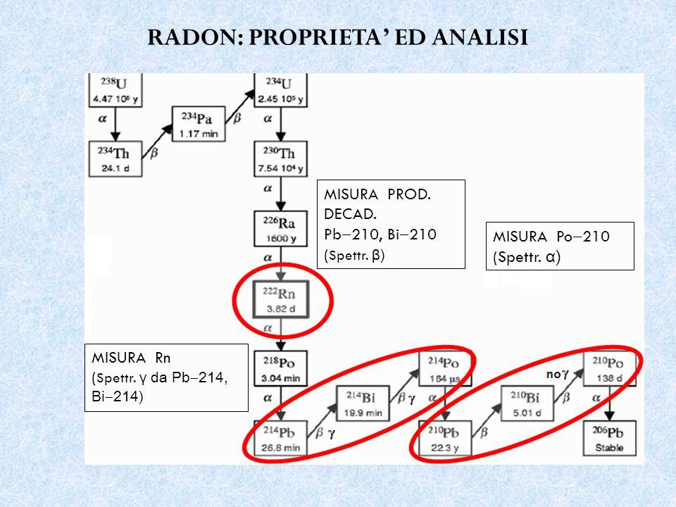 PB 210 metodo di datazione