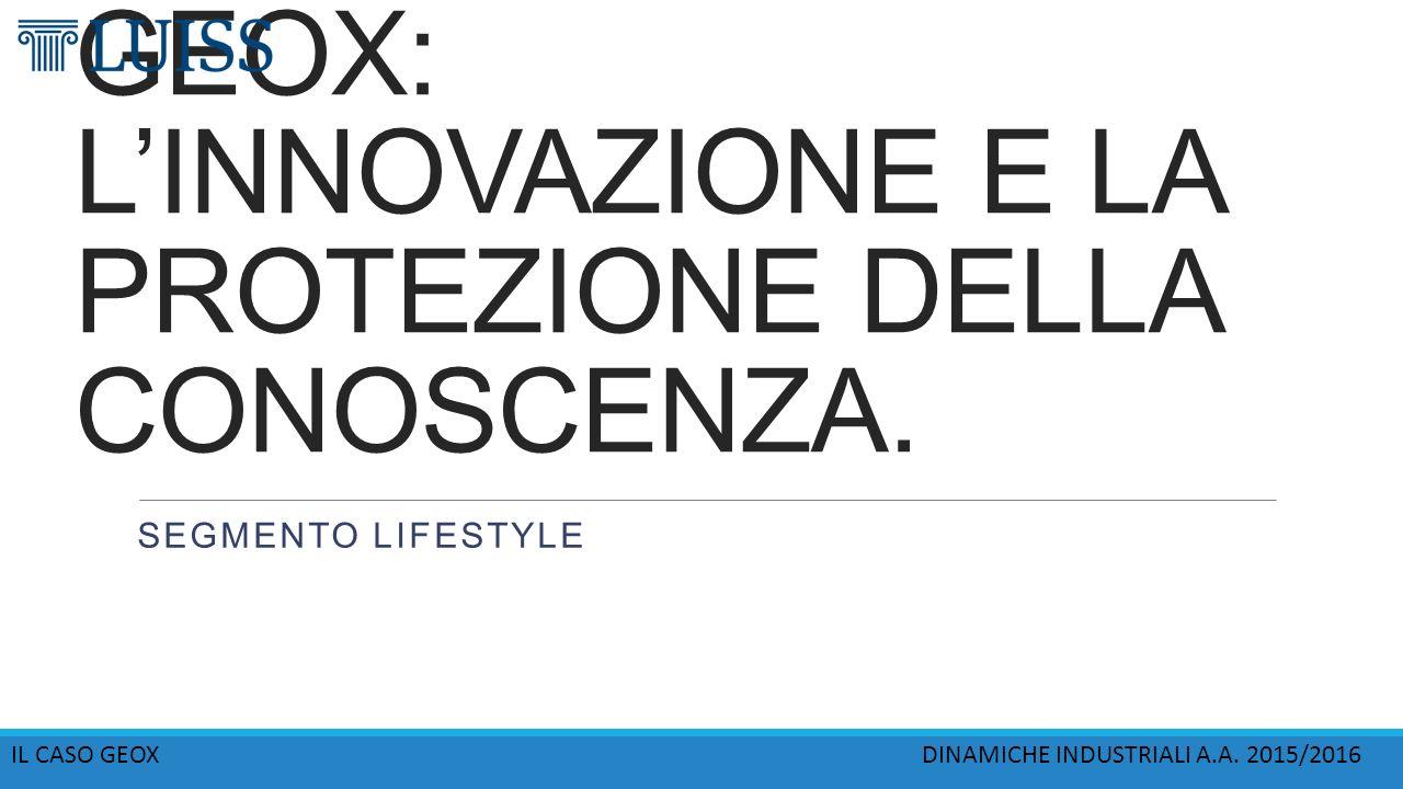 """Il settore """"footwear"""". Il caso Geox. FRANCESCO COMITO"""