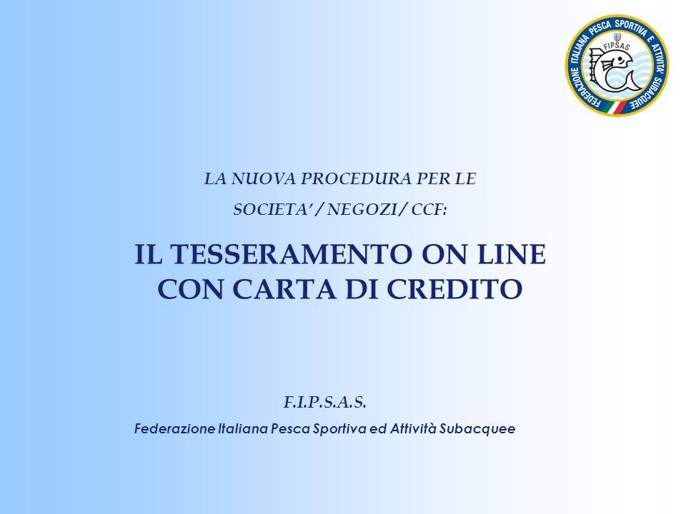 FIPSAS FEDERAZIONI ITALIANA PESCA SPORTIVA ATTIVITA