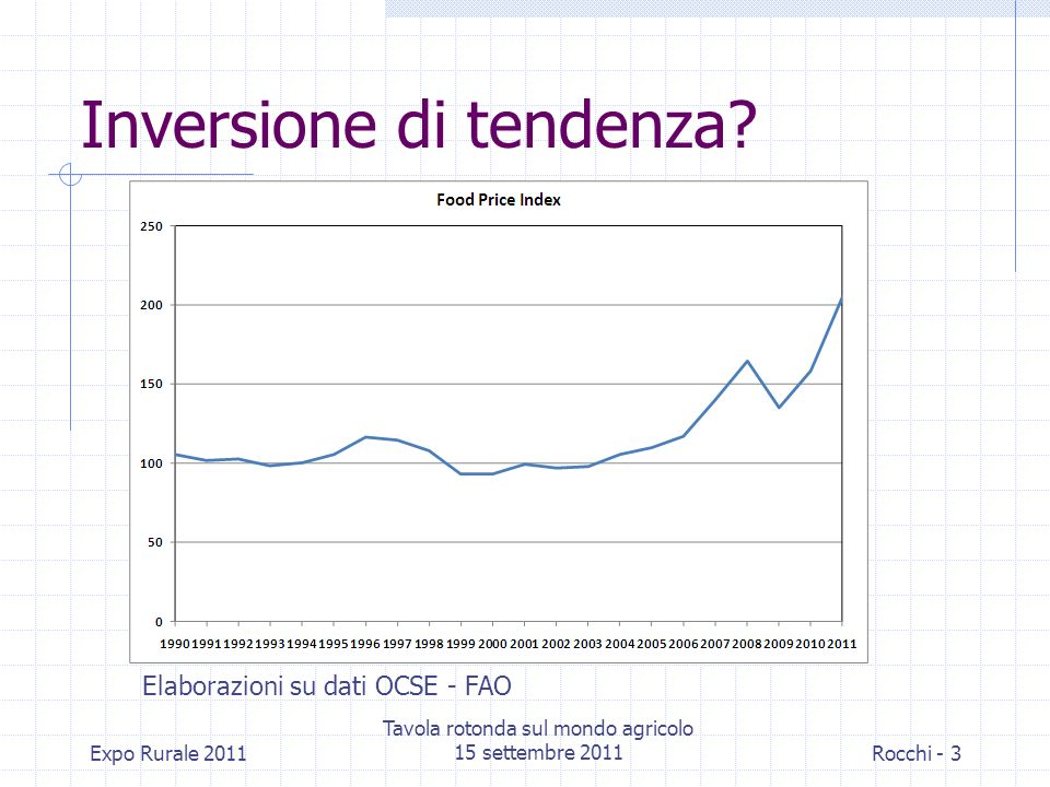 Inversione di tendenza.