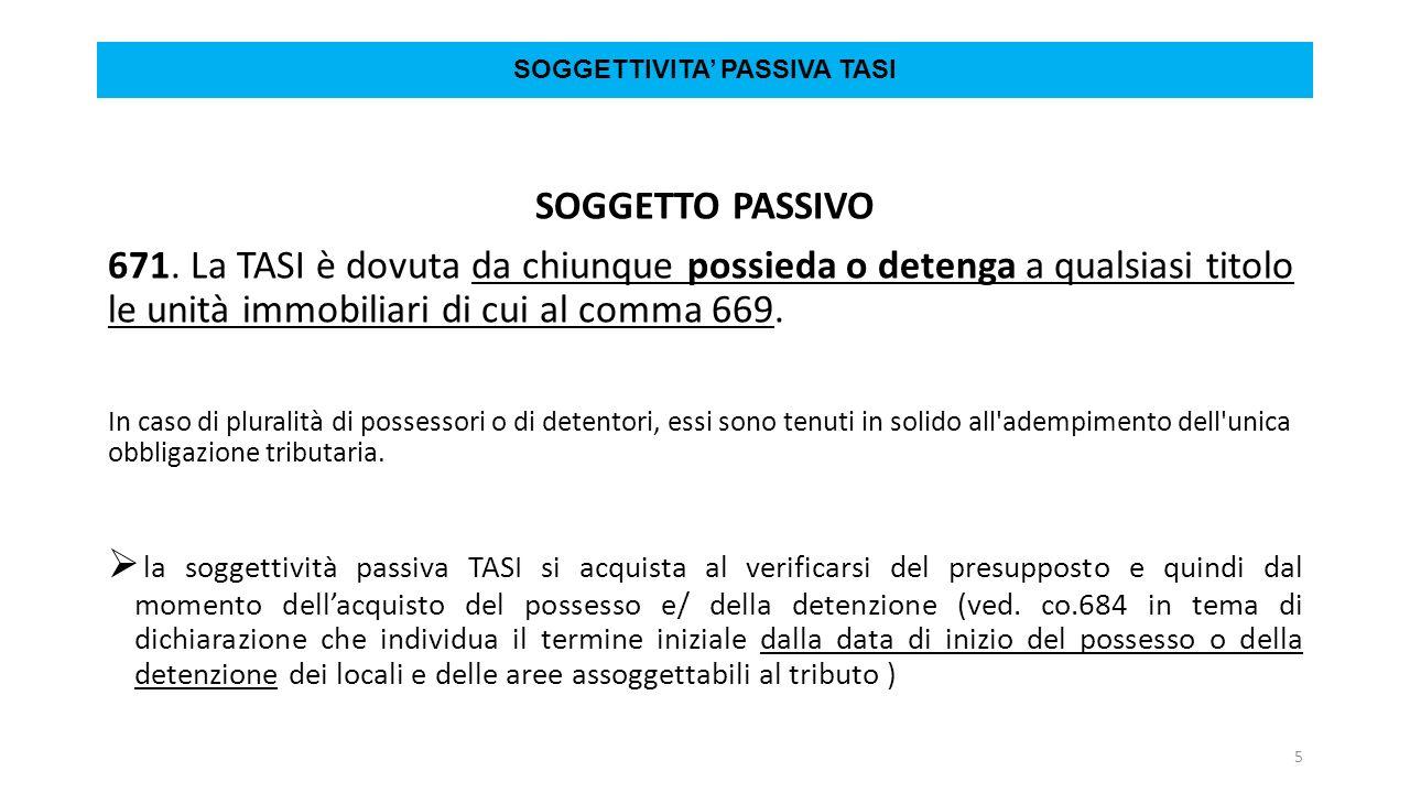 SOGGETTIVITAu0027 PASSIVA TASI SOGGETTO PASSIVO 671.