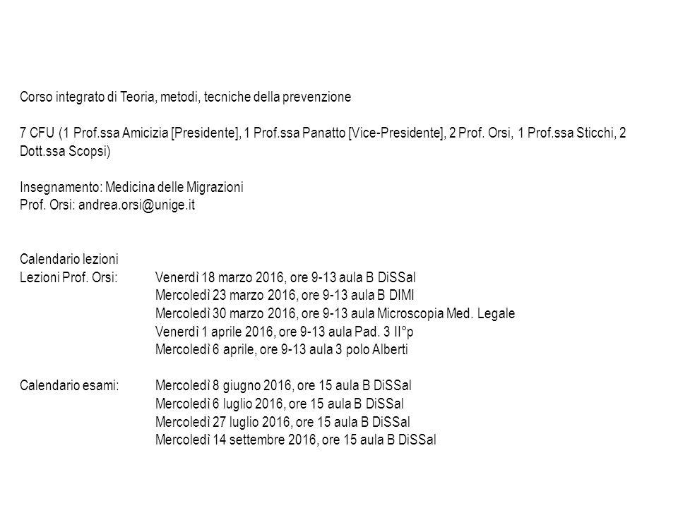 Calendario Medicina Unige.Dott Cristiano Alicino Dott Andrea Orsi Di S Sal