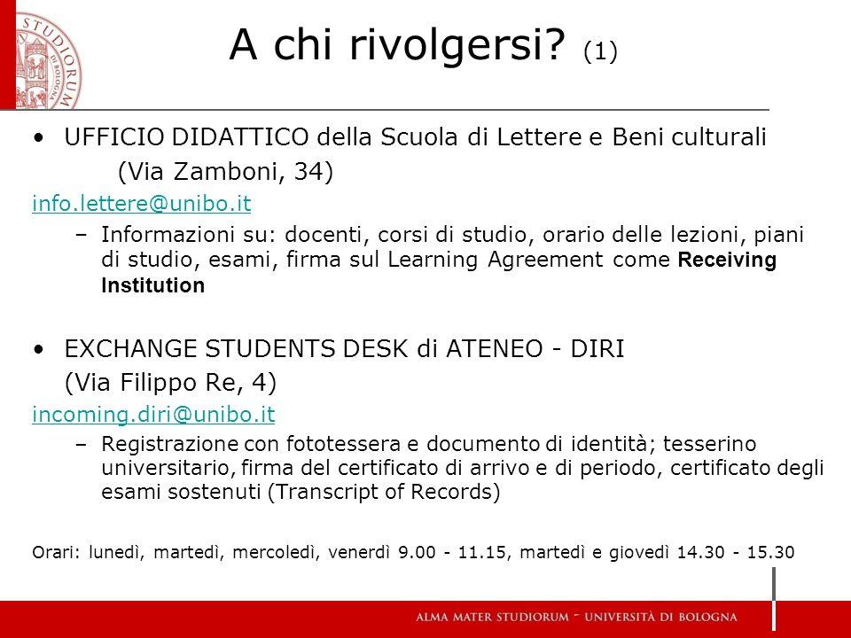 Calendario Lezioni Unibo.Riunione Informativa Per Studenti Di Scambio 2016 2017