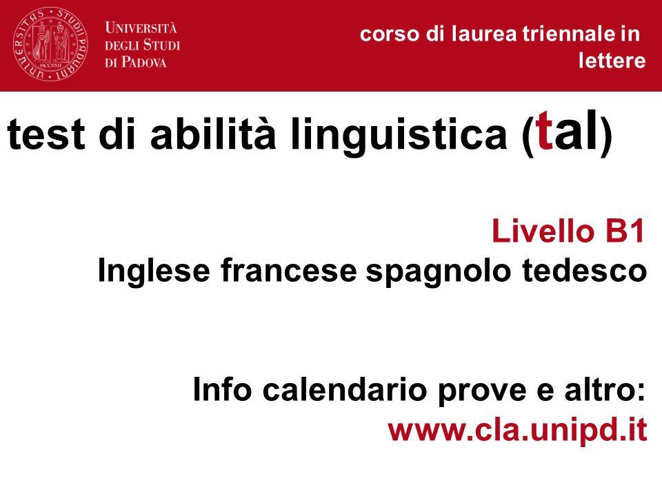 Unipd Calendario.Corso Di Laurea In Lettere Corso Di Laurea Triennale In