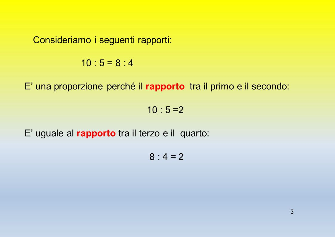 1 I Calcoli Proporzionali E Percentuali I Rapporti E Le Proporzioni